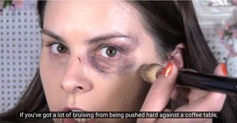 Still from Lauren Luke's video for Refuge on domestic violence