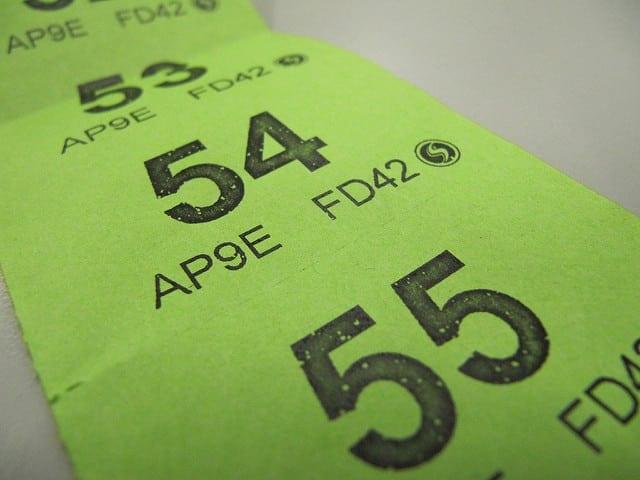 Raffle tickets - photo: Howard Lake