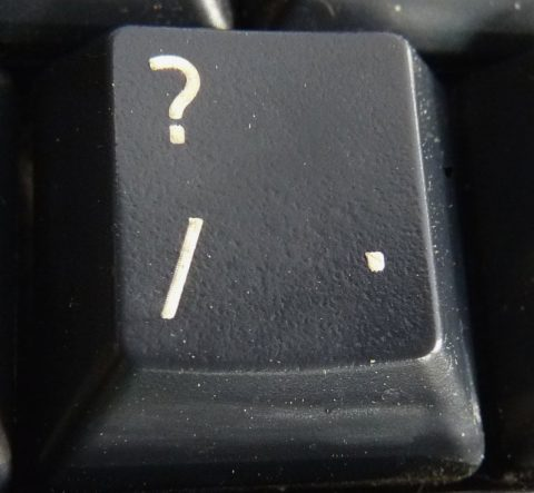 Question Mark key by zeevveez on Flickr.com