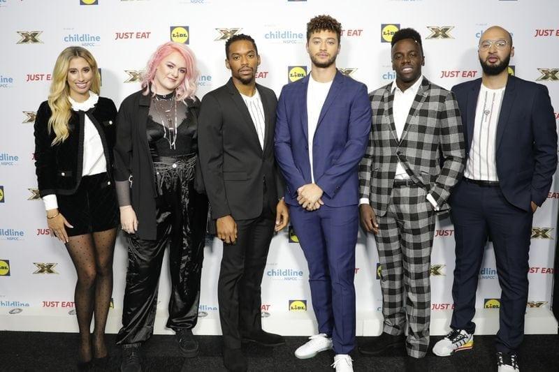 X Factor group shot at X Factor Childline Ball