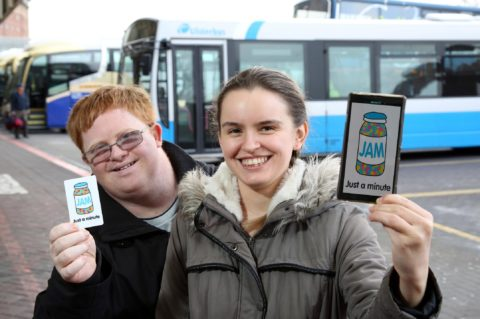 JAM card users Francis Fitzsimons and Caoimhe McAvoy