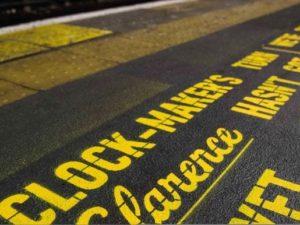 Virgin Trains & Rethink Mental Illness paint platforms with famous film script