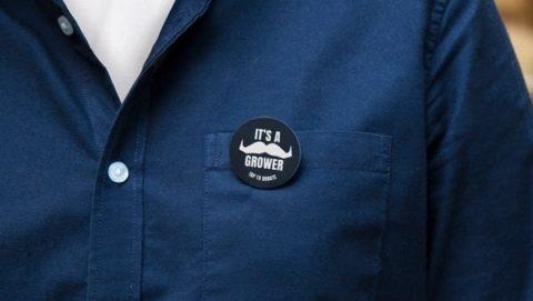 Movember donation badges