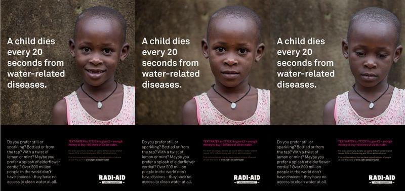 Mock adverts for Facebook / Radi-Aid