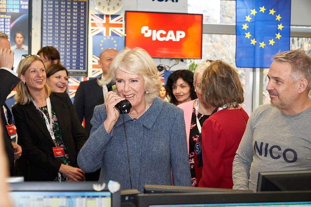 HRH Duchess of Cornwall at ICAP Charity Day 2018