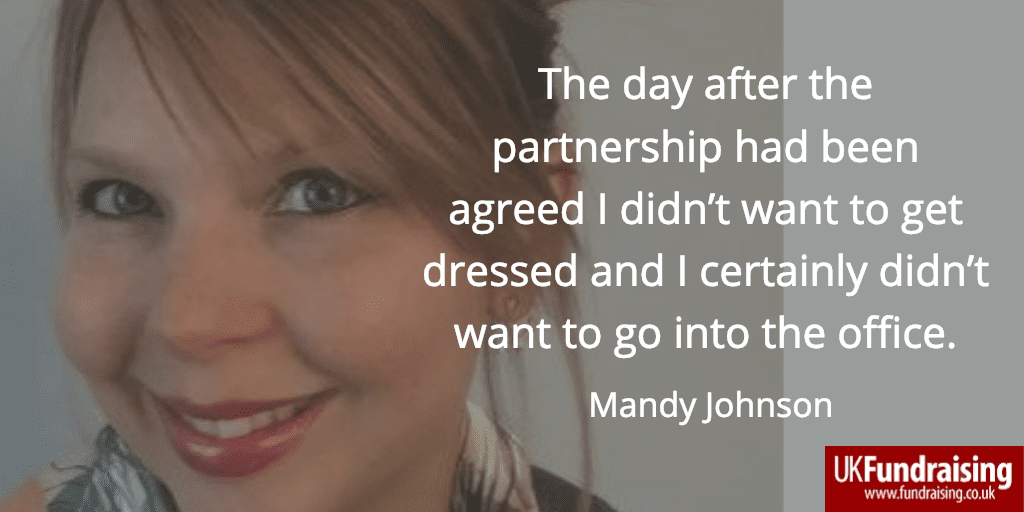 Mandy Johnson quote - The day after the partnership...