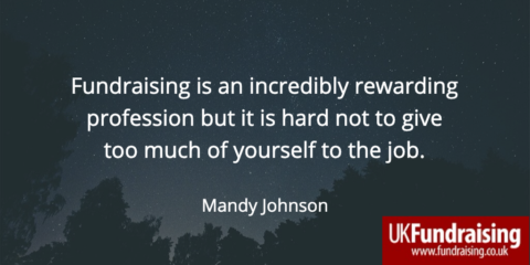 Mandy Johnson quote - Fundraising is an incredibly rewarding profession, but...