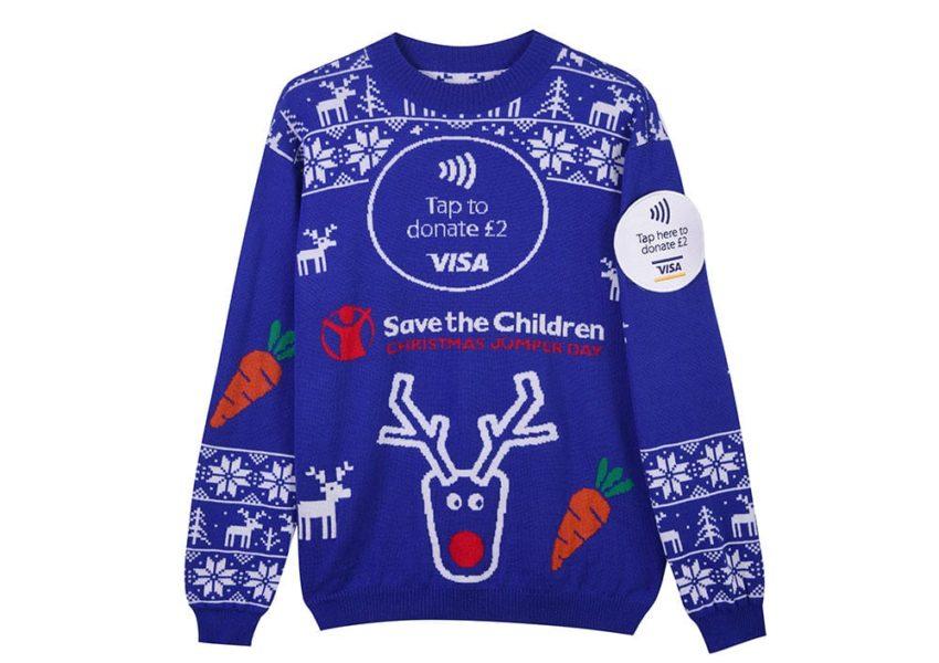 Contactless Christmas jumper