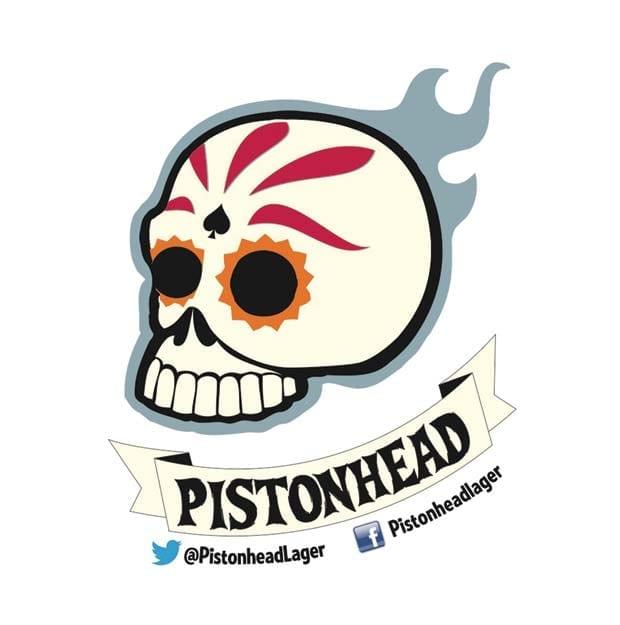 Pistonhead Lager logo - a white skull