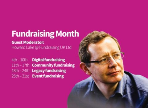 Photo of Howard Lake and details of Fundraising Month on Aviva Community Forum