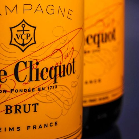 Two Veuve Cliquot bottles - the company hosts the Business Women Awards annually