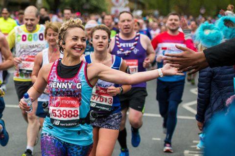 Woman running for Dementia Revolution in 2019 Virgin Money London Marathon