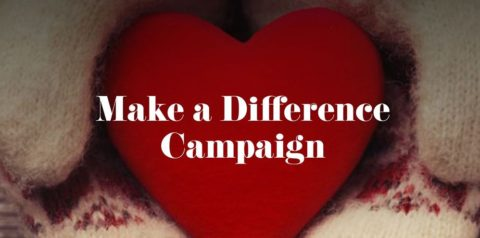 Make a Difference Campaign image - red heart shape