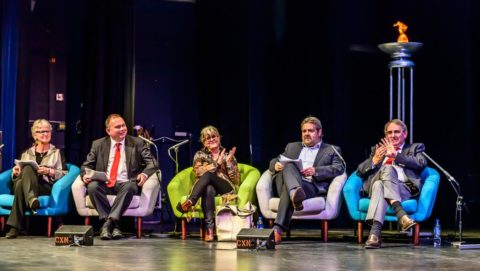 Last year's judges:(l-r) Anne Santry, Andy Murrill, Debra Allcock-Tyler, Andrew McKenzie, and David Bailey. Photo: Greenham Trust
