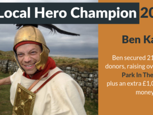 Author who walked Hadrian's Wall dressed as centurion crowned Local Hero 2019 champion