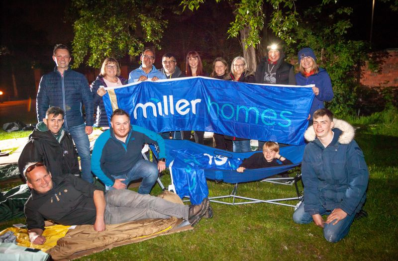 Miller Homes sleepout