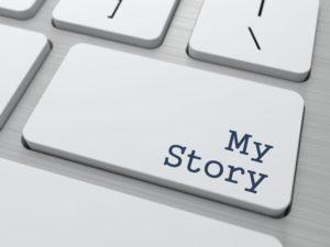 My Instagram Story - Button on Modern Computer Keyboard.