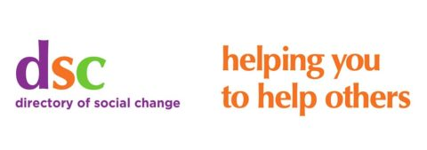 Directory of Social Change logo with strapline - helping you to help others
