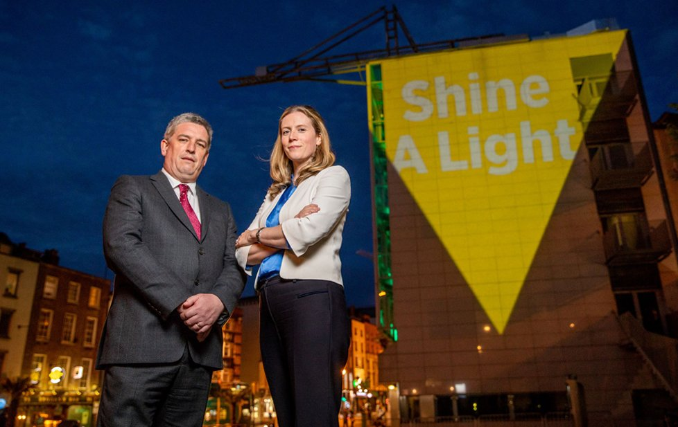 Catherine O Kelly, MD of Bord Gáis Energy and Pat Dennigan, CEO, Focus Ireland