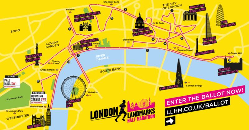 Ballot For 2020 London Landmarks Half Marathon To Open On 18 June Uk Fundraising