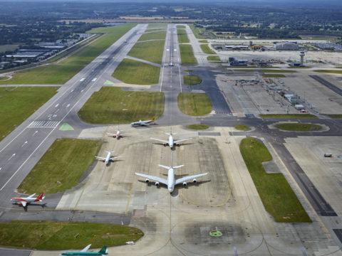 Gatwick Airport aerial view - photo: Gatwick Airport Ltd