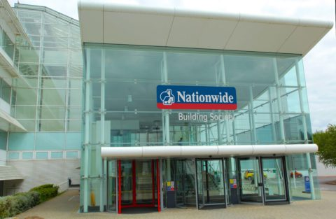 Nationwide HQ, Swindon, featuring the Nationwide Building Society logo