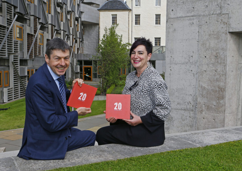 (l-r) Presiding Officer of the Scottish Parliament Ken Macintosh MSP with Scottish Council for Voluntary Organisations Chief Executive Anna Fowlie