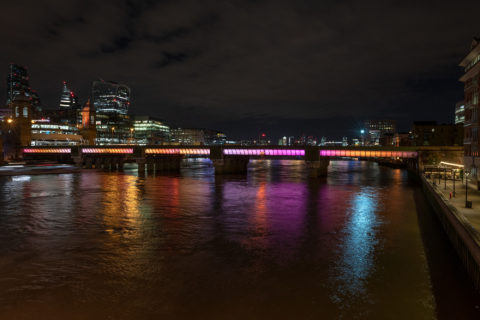 Cannon Street Bridge - Illuminated River - photo: James Newton