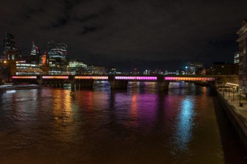 Cannon Street Bridge - Illuminated River - photo: James Newton