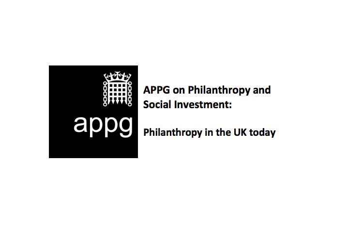 APPG on philanthropy