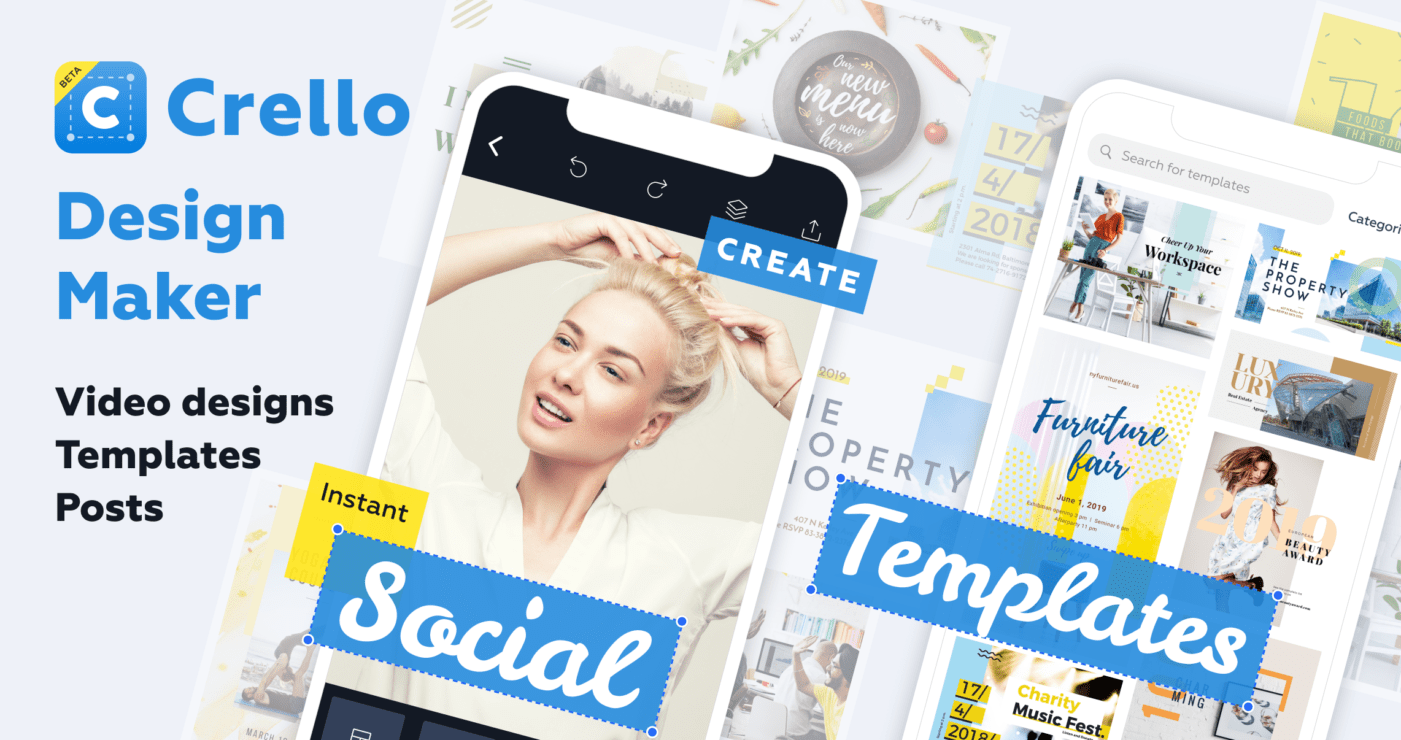 Crello's mobile app
