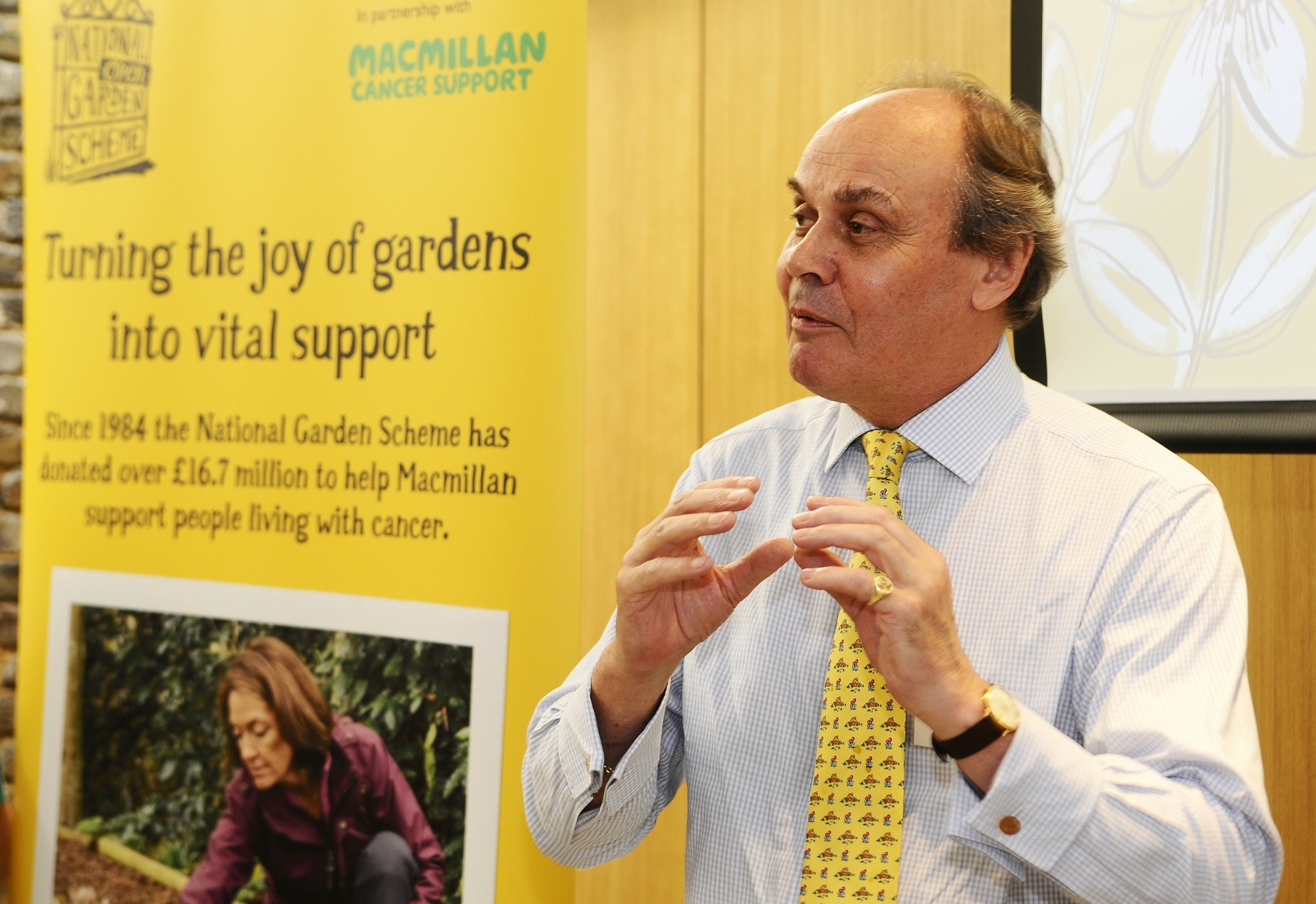 George Plumptre, CEO of the National Garden Scheme