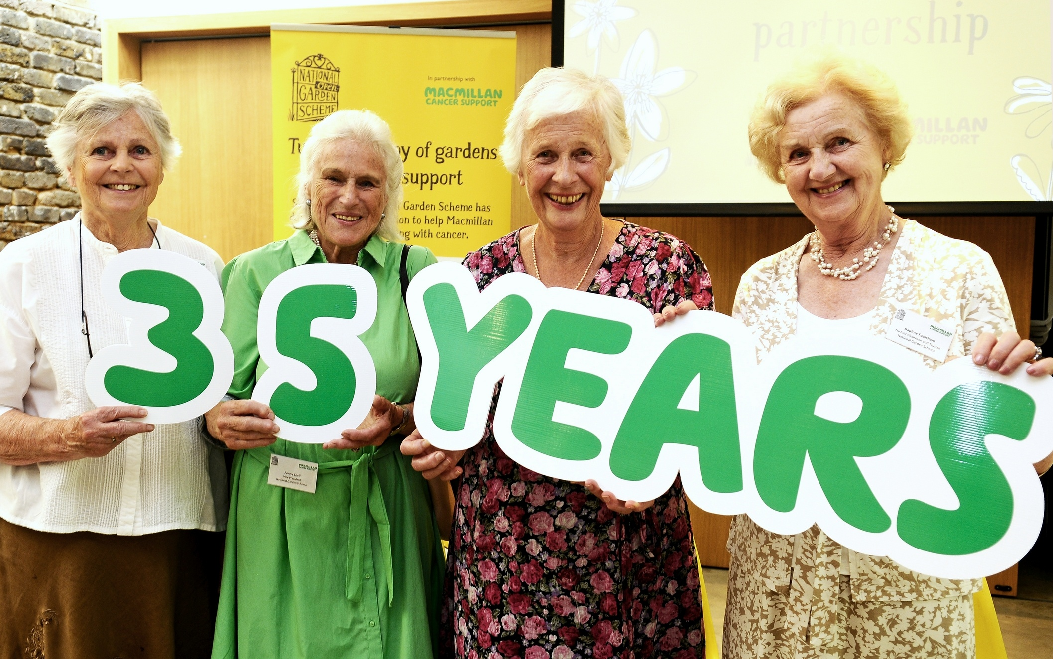 35 years of Macmillan Cancer Support and the National Gardens Scheme's partnership