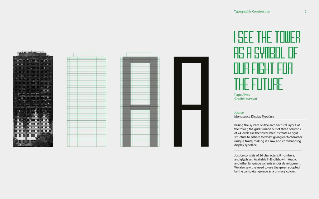Justice typeface