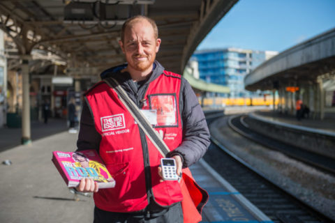 Mike Hall Big Issue vendor