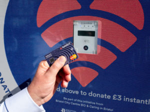 Contactless donation points launch in Bristol to help tackle homelessness