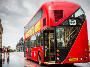 Failed bus maker company made large charitable donations