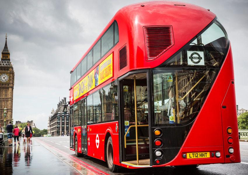 New Routemaster on Westminster bridge - photo: Wrightbus
