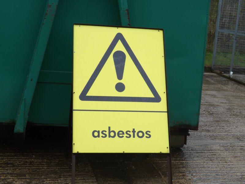 Asbestos sign - UKATA