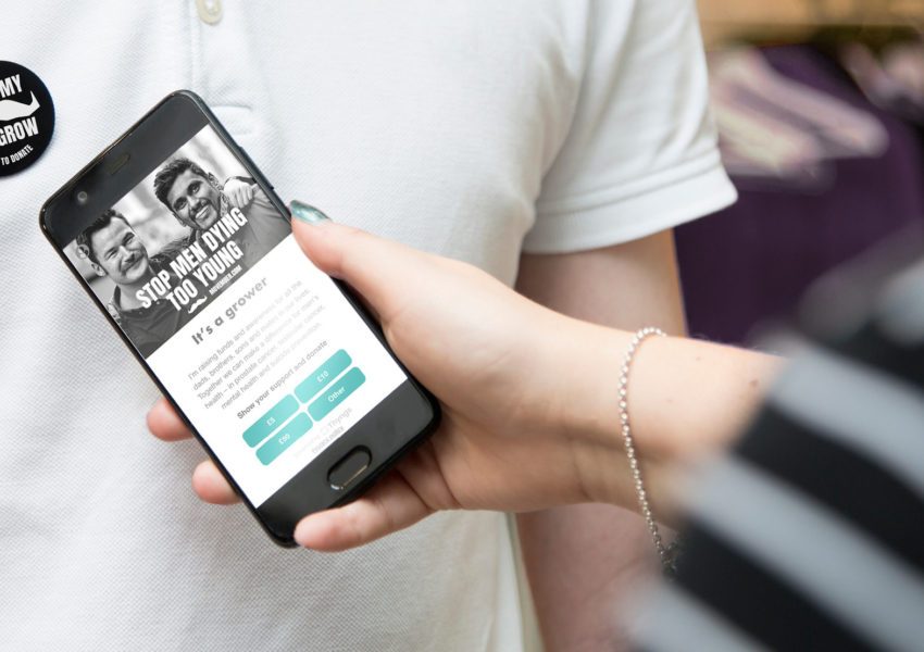 Movember contactless giving