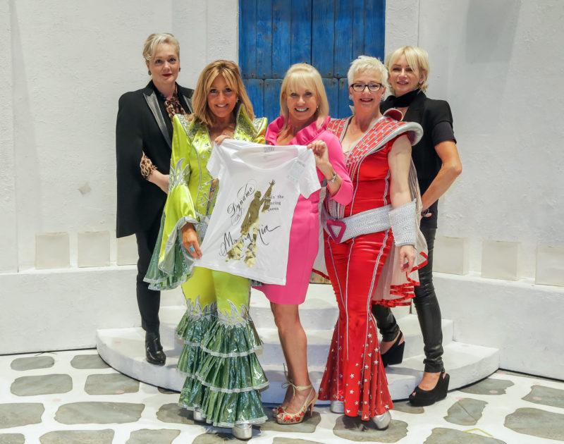 Sarah Greene, Emma Kane, Judy Craymer, Mazz Murray and Ricky Butt celebrate MAMMA MIA! partnership with Target Ovarian Cancer