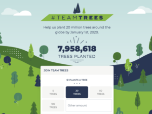 YouTuber heads campaign to plant 20 million trees by 2020