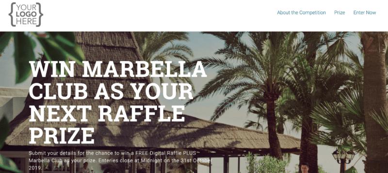 Zaffo marbella club raffle