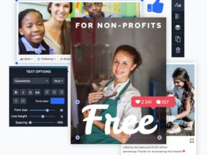 Crello lets charities use its pro design tool for free