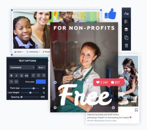 Crello nonprofit programme promotion