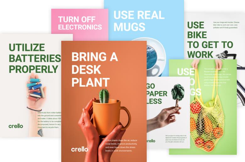 Crello eco poster designs