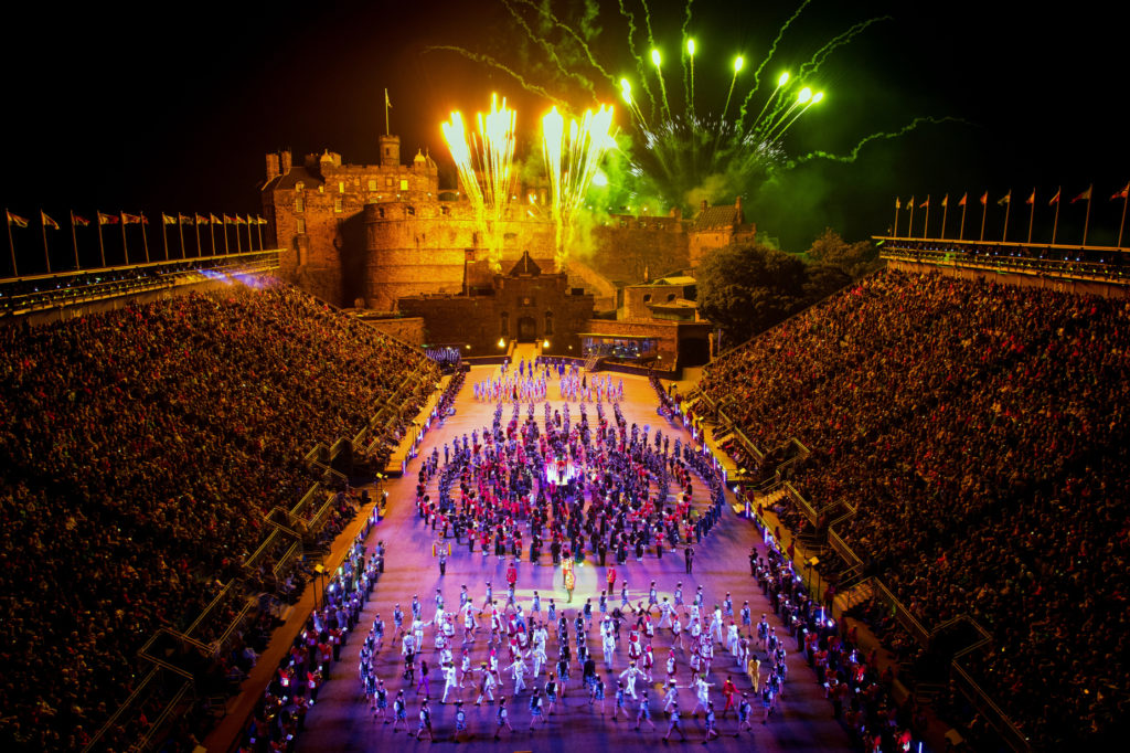 The Royal Edinburgh Military Tattoo Finale 2019 with fireworks