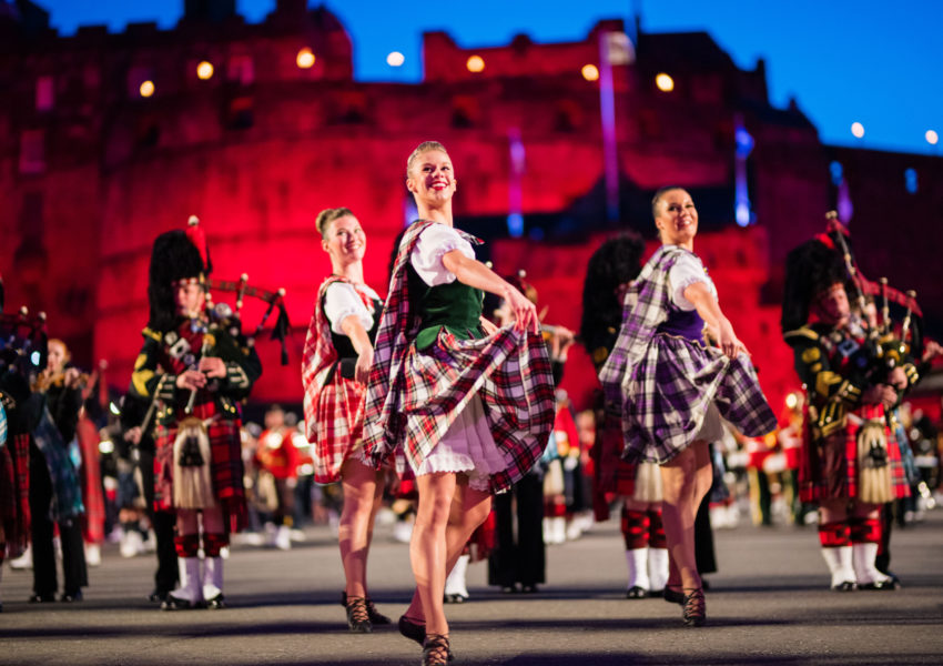 Highland dancers perform at The Royal Edinburgh Military Tattoo 2019