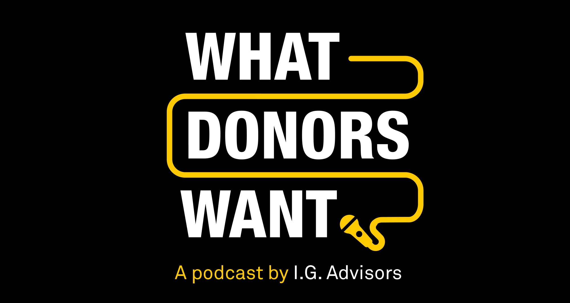 What Donors Want podcast logo