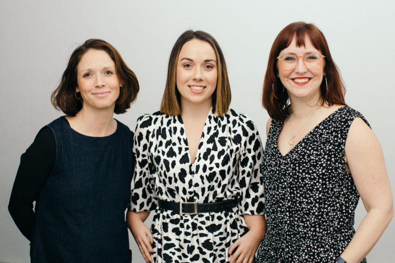 2019 Corporate Award winners_ Candoco Dance Company (left to right)_ Lucy Fox, Annie-Rose Grantham and Jo Royce. Photo by James Allan.